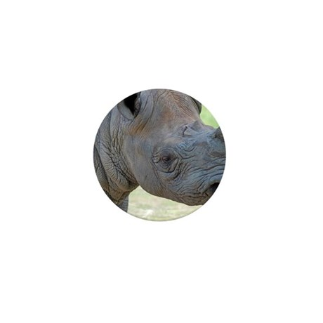 Black Rhino Panel Print Mini Button