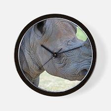 Black Rhino Panel Print Wall Clock