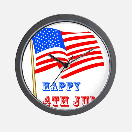 4th of July Celebration Wall Clock