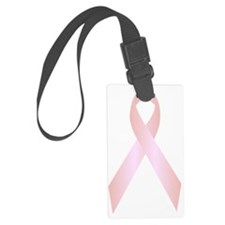 Pink Breast Cancer Awareness Rib Luggage Tag