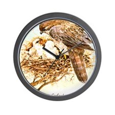 """Birds and Young """"Goshawks"""" Peter Bere D Wall Clock"""