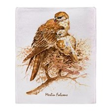 "Birds and Young ""Merlin Falcons"" Pet Throw Blanket"