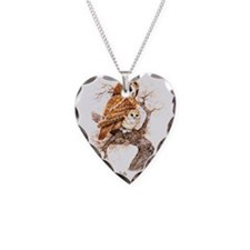 """Birds and Young """"Tawny Owls""""  Necklace"""