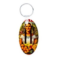 Vintage Mexico Fruit Travel Keychains