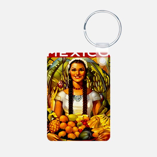Vintage Mexico Fruit Trave Keychains