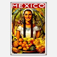 Vintage Mexico Fruit Travel Banner