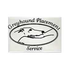 Greyhound Placement Service of NH Rectangle Magnet