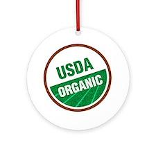 USDA Organic Round Ornament