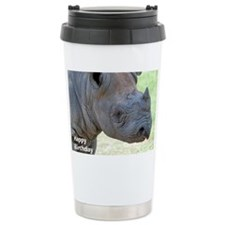 Black Rhino Birthday Ca Travel Mug