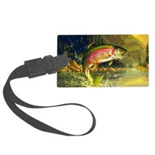 Jumping Rainbow Trout Luggage Tag