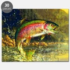 Jumping Rainbow Trout Puzzle