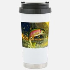 Jumping Rainbow Trout Stainless Steel Travel Mug