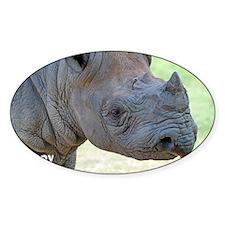 Black Rhino Birthday Card Decal