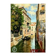 Vintage Venice Italy Travel Ad 5'x7'Area Rug