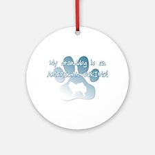 American Eskimo Granddog Ornament (Round)