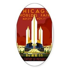 Vintage Chicago Worlds Fair Decal