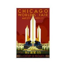Vintage Chicago Worlds Fair Rectangle Magnet