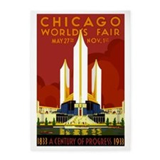Vintage Chicago Worlds Fair 5'x7'Area Rug