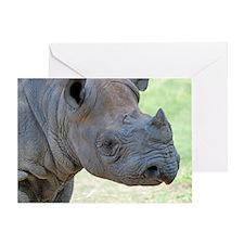 Black Rhino Pillow Case Greeting Card