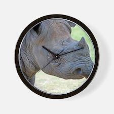 Black Rhino Queen Duvet Wall Clock