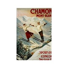 Chamonix Mont-Blanc France Rectangle Magnet
