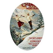 Chamonix Mont-Blanc France Oval Ornament