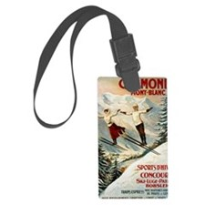 Chamonix Mont-Blanc France Luggage Tag