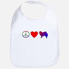 Peace, Love, American Eskimo Bib