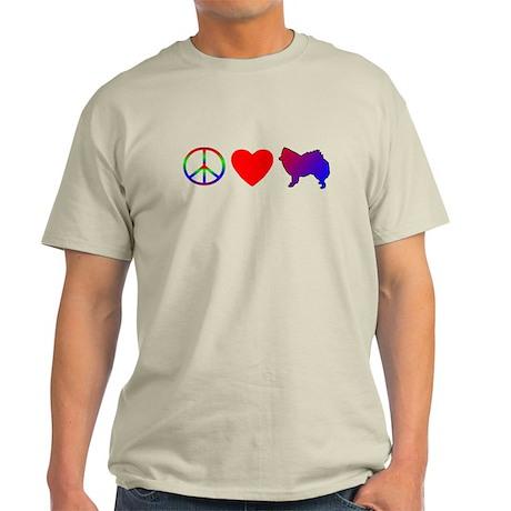 Peace, Love, American Eskimo Light T-Shirt