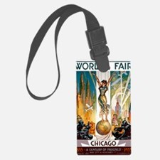 Vintage Chicago Worlds Fair B Luggage Tag