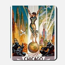 Vintage Chicago Worlds Fair B Mousepad