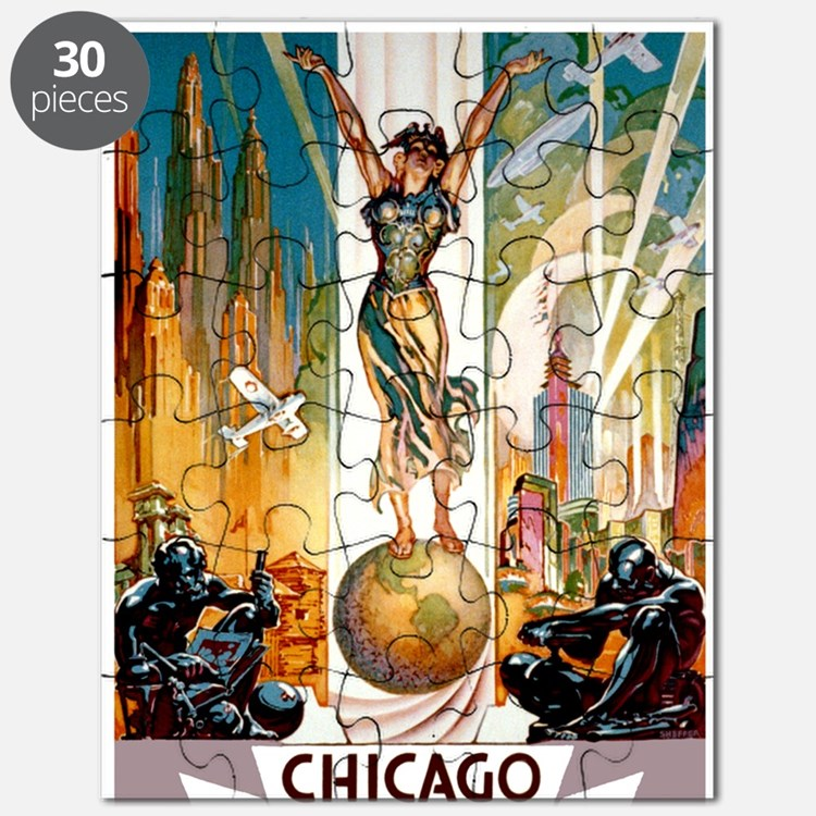 Vintage Chicago Worlds Fair B Puzzle