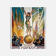 Vintage Chicago Worlds Fair B Throw Blanket
