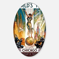 Vintage Chicago Worlds Fair B Decal
