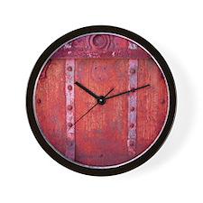 Steampunk Trunk Claret Shower Curtain Wall Clock