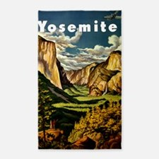 Vintage Yosemite Travel 3'x5' Area Rug