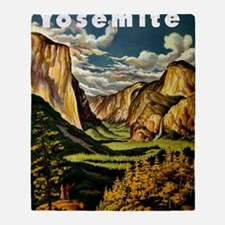 Vintage Yosemite Travel Throw Blanket