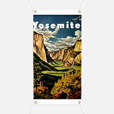 Vintage Yosemite Travel Banner