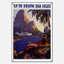 Vintage South Sea Isles Travel Banner