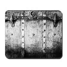 Black and White Steampunk Trunk Mousepad