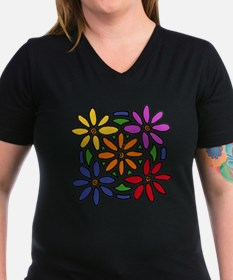 Colorful Daisy Floral  Shirt
