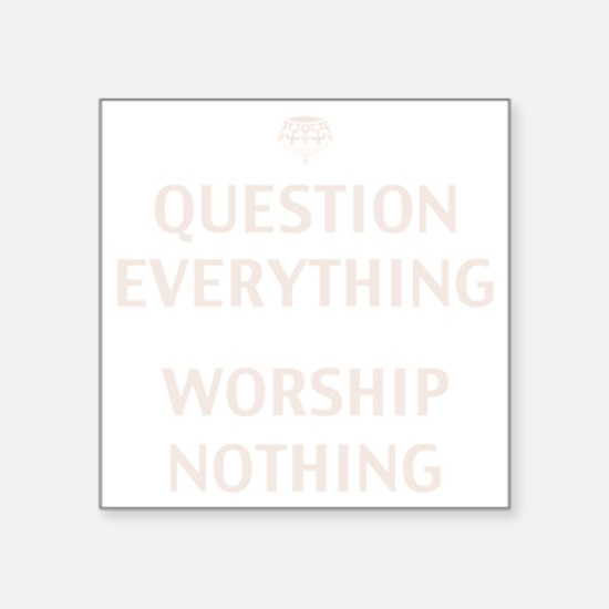 "q-evrythng-DKT Square Sticker 3"" x 3"""