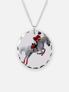 Dressage 2 Necklace Circle Charm