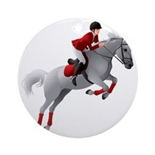Dressage 2 Round Ornament