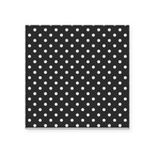 """gray with white dots Square Sticker 3"""" x 3"""""""