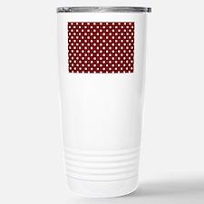 dark red with white dot Stainless Steel Travel Mug