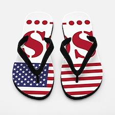 America SOS Flip Flops