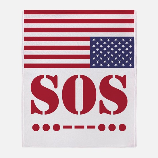 America SOS Throw Blanket
