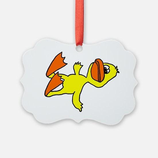 Funny Dead Duck Cartoon Ornament