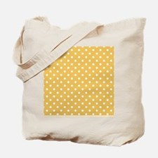 golden with white dots Tote Bag